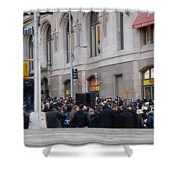 Shower Curtain featuring the photograph Good Friday On Trinity Place by Rob Hans