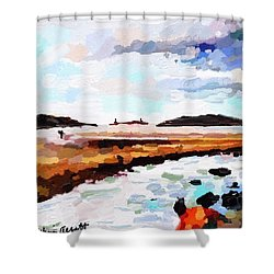 Good Harbor Beach, Salt Island, And Thatcher's Island Shower Curtain