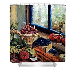 Good Harvest Shower Curtain by Richard T Pranke