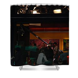 Good Morning America Commercial Break Shower Curtain by Rob Hans