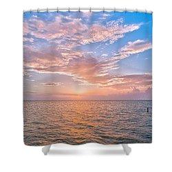 Good Morning Aransas Bay Shower Curtain