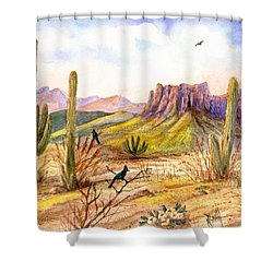 Good Morning Arizona Shower Curtain
