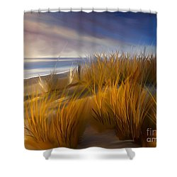 Good Morning Beach Day Shower Curtain by Anthony Fishburne