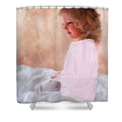 Good Morning Bunnie Shower Curtain by Colleen Taylor