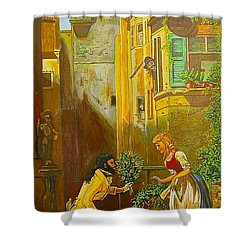 Good Morning Dear Shower Curtain by V Boge