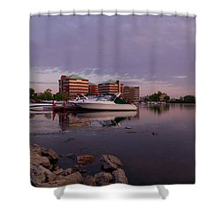 Shower Curtain featuring the photograph Good Morning Harbor by Joel Witmeyer