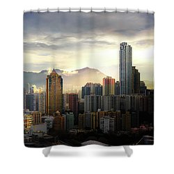 Good Morning, Hong Kong Shower Curtain