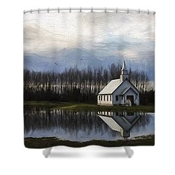 Good Morning - Hope Valley Art Shower Curtain by Jordan Blackstone