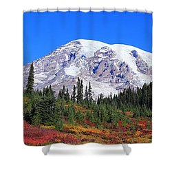 Shower Curtain featuring the photograph Good Morning Mount Rainier by Lynn Hopwood