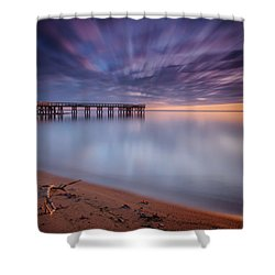 Shower Curtain featuring the photograph good morning Mr. Sun   by Edward Kreis