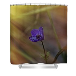 Good Morning Sunshine On Blue Shower Curtain by Angela A Stanton