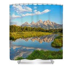 Good Morning Tetons Shower Curtain