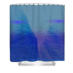 Good Morning World Shower Curtain