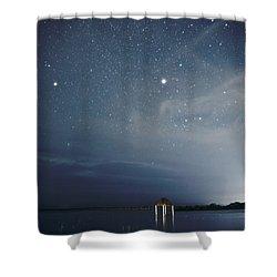 Good Night Dreams Shower Curtain by Yuri Santin