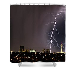Shower Curtain featuring the photograph Good Night Everybody by Michael Rogers