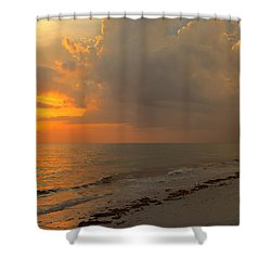 Good Night Sun Shower Curtain by Sean Allen