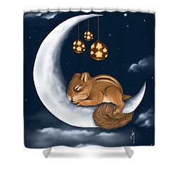 Shower Curtain featuring the painting Good Night by Veronica Minozzi