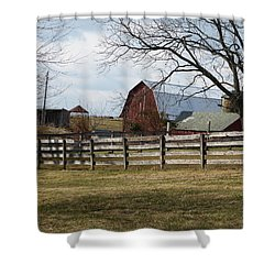 Good Old Barn Shower Curtain by Donald C Morgan