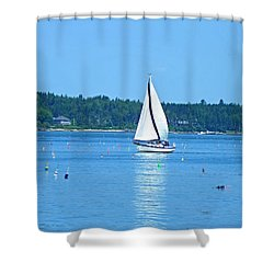 Good Sailing Shower Curtain