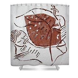 Good Shepherd - Tile Shower Curtain by Gloria Ssali