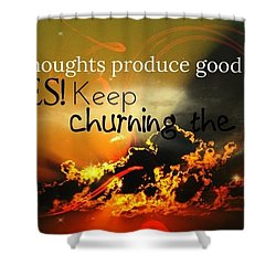 Good Thoughts Shower Curtain