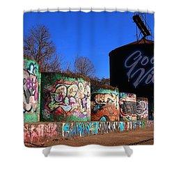Good Vibes Asheville North Carolina Shower Curtain