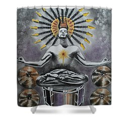 Good Vibrations Shower Curtain by Carla Carson