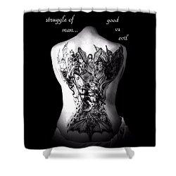 Good Vs Evil Shower Curtain