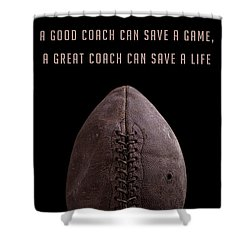 Shower Curtain featuring the photograph Good Vs Great Football Coaches by Edward Fielding
