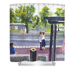 Goodbye Kiss In Gothenburg Sweden Shower Curtain