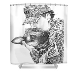 Goodbye Kiss Shower Curtain by Murphy Elliott