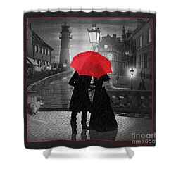 Goodbye My Love Shower Curtain by Monika Juengling