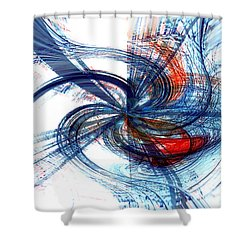 Goodbye Sky Shower Curtain by Linda Sannuti