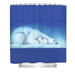 Arctic Bears, Goodnight Nanook Shower Curtain