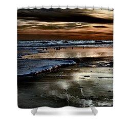 Goodnight Sun Isle Of Palms Shower Curtain