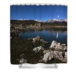 Shower Curtain featuring the photograph Goodnight Venus by Tassanee Angiolillo