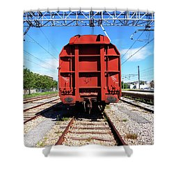 Goods Wagon Shower Curtain by Don Pedro De Gracia
