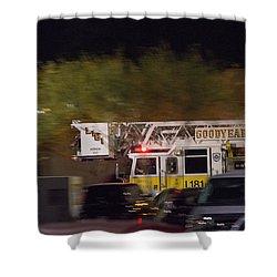 Shower Curtain featuring the photograph Goodyear Arizona Fire Truck 3 by Carolina Liechtenstein