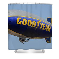 Goodyear Blimp Spirit Of Innovation Goodyear Arizona September 13 2015 Shower Curtain by Brian Lockett