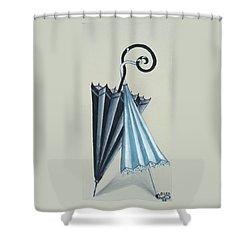 Goog Morning Shower Curtain by Olga Alexeeva