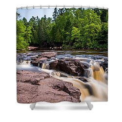 Goose Berry River Rapids Shower Curtain by Paul Freidlund