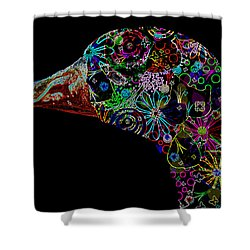 Goose Down Neon Shower Curtain