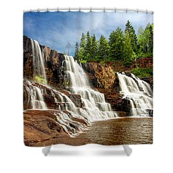 Shower Curtain featuring the photograph Gooseberry Falls by Rikk Flohr