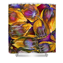 Goosed Berry Pods Shower Curtain