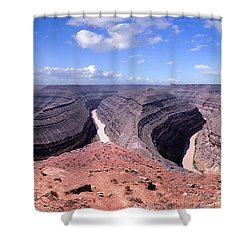 Gooseneck Bends Panorama Shower Curtain