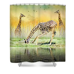 Gopher I Know I Saw A Gorpher Shower Curtain by Diane Schuster