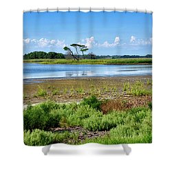 Shower Curtain featuring the photograph Gordons Pond At Cape Henlopen State Park - Delaware by Brendan Reals