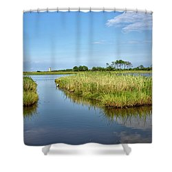Shower Curtain featuring the photograph Gordons Pond - Cape Henlopen Park - Delaware by Brendan Reals