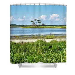 Shower Curtain featuring the photograph Gordons Pond - Cape Henlopen State Park - Delaware by Brendan Reals