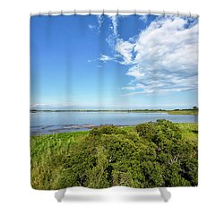 Shower Curtain featuring the photograph Gordons Pond Overlook - Cape Henlopen State Park - Delaware by Brendan Reals
